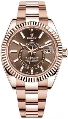 Rolex Sky Dweller 42mm 326935 Chocolate Index