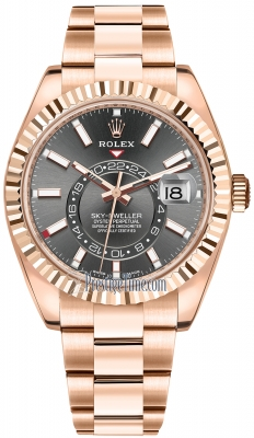 Rolex Sky Dweller 42mm 326935 Rhodium Index