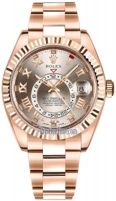 Rolex Sky Dweller 42mm 326935 Sundust Roman
