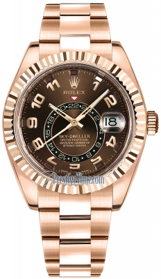 Rolex Sky Dweller 42mm 326935 Chocolate Arabic