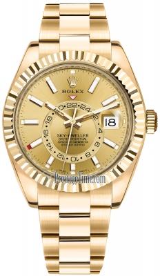 Rolex Sky Dweller 42mm 326938 Champagen Index