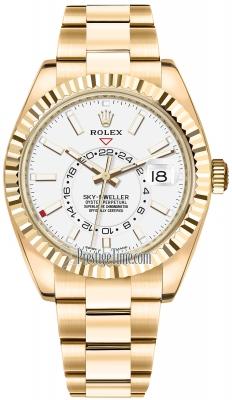Rolex Sky Dweller 42mm 326938 White Index