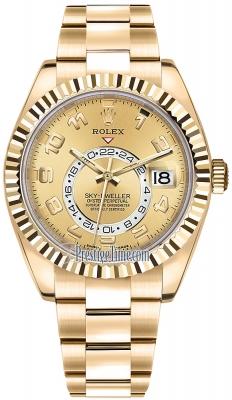 Rolex Sky Dweller 42mm 326938 Champagne Arabic