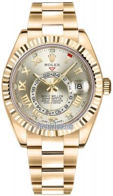 Rolex Sky Dweller 42mm 326938 Silver Roman