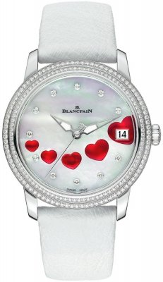 Blancpain Ladies Ultra Slim Automatic 34mm 3400-4554-58b St Valentin