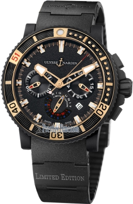 Ulysse Nardin Maxi Marine Diver Black Sea Chronograph 353-95LE-3C BIG UNIT