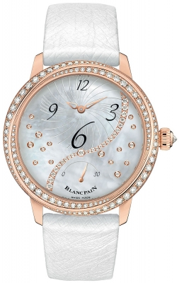 Blancpain Ladies Off Centered Hour Retrograde Seconds 3650a-3754-58b