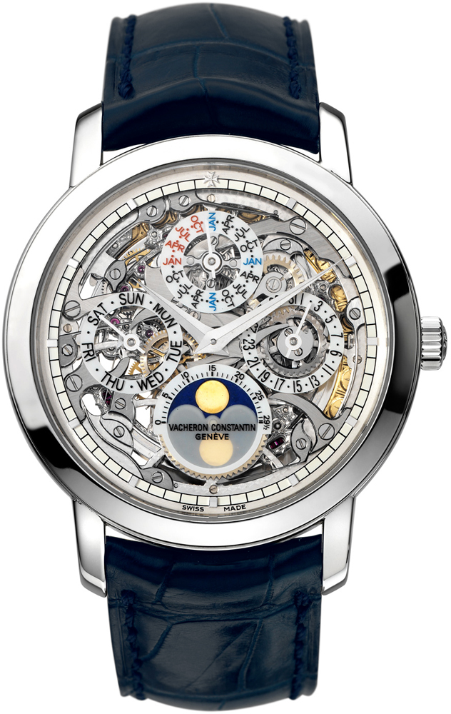 Vacheron Constantin 43172/000p-9236 Patrimony Traditionnelle Skeleton Perpetual Calendar Mens Watches