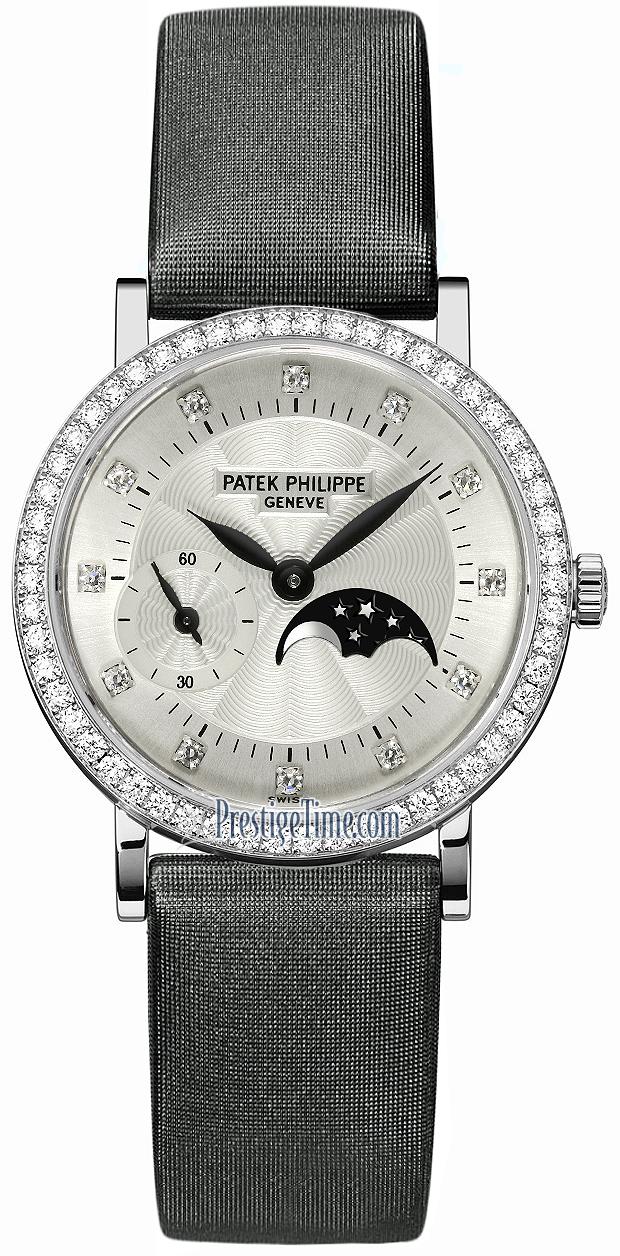 4858g 001 patek philippe calatrava ladies moonphase ladies watch for Patek philippe moonphase
