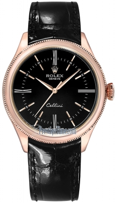 Rolex Cellini Time 39mm 50505 Black