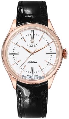Rolex Cellini Time 39mm 50505 White