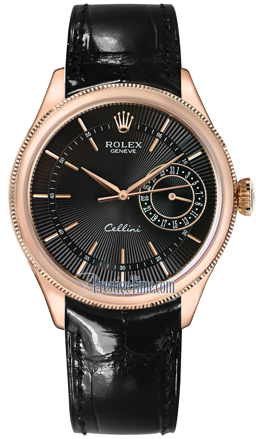 50515 black rolex cellini date 39mm mens watch for Rolex cellini