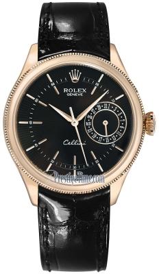 Rolex Cellini Date 39mm 50515 Black