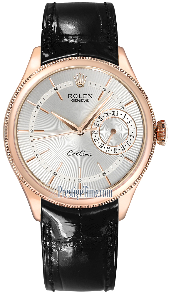 50515 silver rolex cellini date 39mm mens