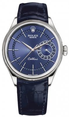 Rolex Cellini Date 39mm 50519 Blue Blue Strap