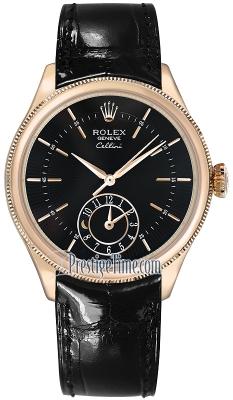 Rolex Cellini Dual Time 39mm 50525 Black