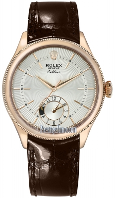Rolex Cellini Dual Time 39mm 50525 Silver