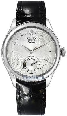 Rolex Cellini Dual Time 39mm 50529 Silver