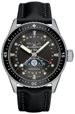 Blancpain Fifty Fathoms Bathyscaphe Complete Calendar 43mm 5054-1110-b52a
