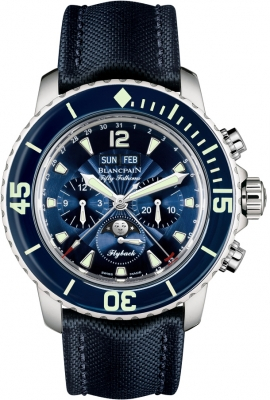 Blancpain Fifty Fathoms Complete Calendar Flyback Chronograph 5066f-1140-52b
