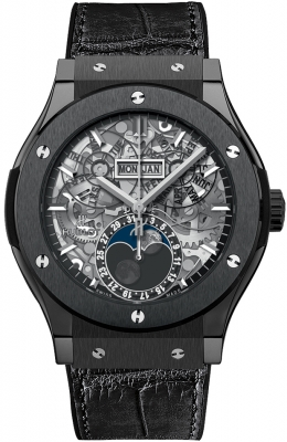 Hublot Classic Fusion Aerofusion Moonphase 45mm 517.cx.0170.lr Black Magic