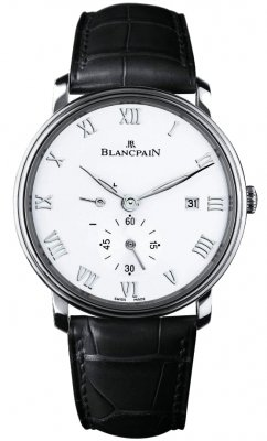 Blancpain Villeret Small Seconds Date & Power Reserve Mechanical 6606-1127-55b