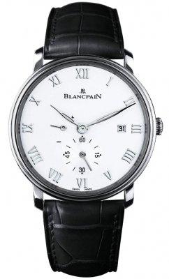 Blancpain Villeret Small Seconds Date & Power Reserve Mechanical 6606-1127-55b