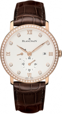 Blancpain Villeret Small Seconds Date & Power Reserve Mechanical 6606-2987-55B