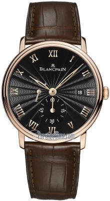 Blancpain Villeret Small Seconds Date & Power Reserve Mechanical 6606-3630-55b