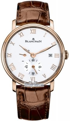 Blancpain Villeret Small Seconds Date & Power Reserve Mechanical 6606-3642-55b