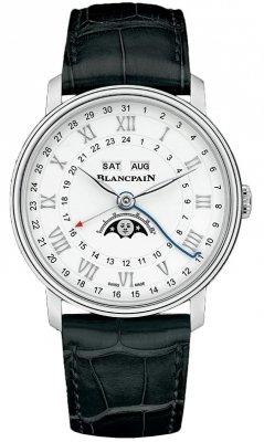 Blancpain Villeret Moonphase Complete Calendar GMT 40mm 6676-1127-55b