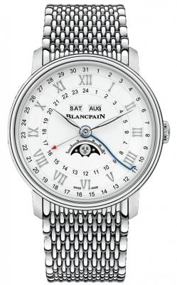 Blancpain Villeret Moonphase Complete Calendar GMT 40mm 6676-1127-mmb