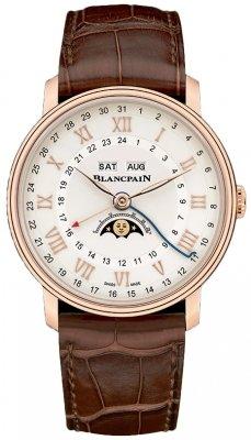 Blancpain Villeret Moonphase Complete Calendar GMT 40mm 6676-3642-55b