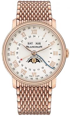 Blancpain Villeret Moonphase Complete Calendar GMT 40mm 6676-3642-mmb