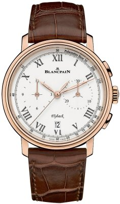Blancpain Villeret Flyback Chronograph Pulsometer 43.60mm 6680f-3631-55b
