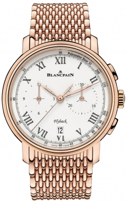 Blancpain Villeret Flyback Chronograph Pulsometer 43.60mm 6680f-3631-mmb