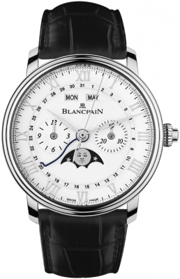Blancpain Villeret Single Pusher Chronograph Complete Calendar 6685-1127a-55b