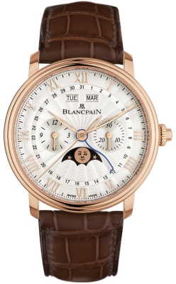 Blancpain Villeret Single Pusher Chronograph Complete Calendar 6685-3642a-55b
