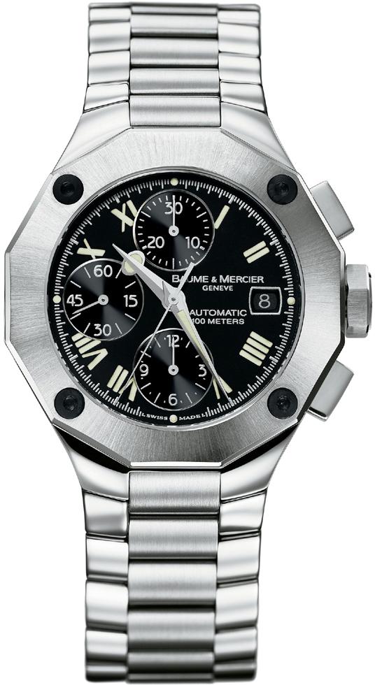 8728 baume mercier riviera automatic chronograph mens watch. Black Bedroom Furniture Sets. Home Design Ideas