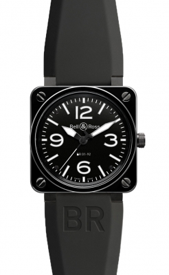 Bell & Ross BR01-92 Automatic 46mm BR01-92 Black Ceramic