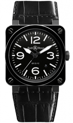 Bell & Ross BR03-92 Automatic 42mm BR03-92 Black Ceramic Alligator