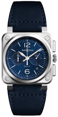 Bell & Ross BR03-94 Chronograph 42mm BR03-94 Blue Steel