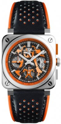 Bell & Ross BR03-94 Chronograph 42mm BR0394-SC-ORA/SCA