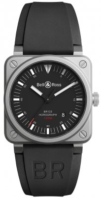 Bell & Ross BR03-92 Automatic 42mm BR0392-HOR-BLC/SRB