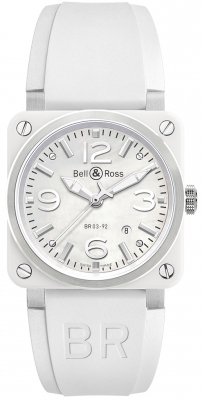 Bell & Ross BR03-92 Automatic 42mm BR03-92 White Ceramic Rubber