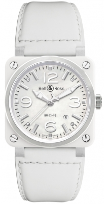 Bell & Ross BR03-92 Automatic 42mm BR03-92 White Ceramic Calfskin