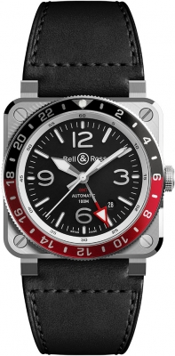 Bell & Ross BR03 GMT 42mm BR0393-BL-ST/SCA
