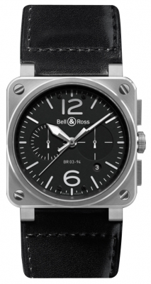 Bell & Ross BR03-94 Chronograph 42mm BR0394-BL-SI/SCA