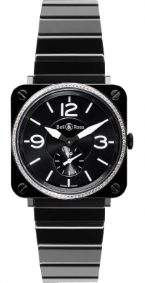 Bell & Ross BR S Quartz 39mm BRS Black Ceramic Diamond