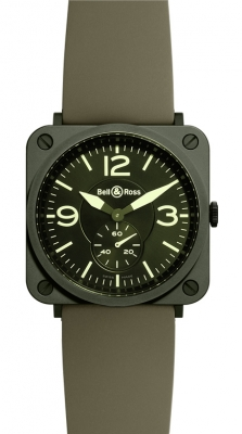 Bell & Ross BR S Quartz 39mm BRS Military Ceramic